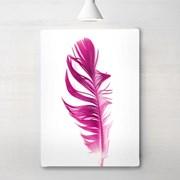 [RYMD] 북유럽 인테리어 액자 포스터 핑크 페더 깃털