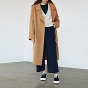 Handmade wide lapel coat