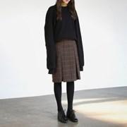 Classic check pleats skirt