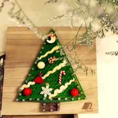 크리스마스 트리 스트링아트 만들기 패키지 DIY