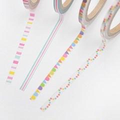 월드크라프트 컬러풀줄무늬 마스킹테이프