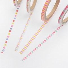 월드크라프트 핑크옐로줄무늬 마스킹테이프