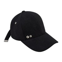 LINE POINT WOOL BASEBALL CAP aaa041(Black)