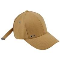 LINE POINT WOOL BASEBALL CAP aaa041(Mustard)