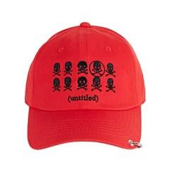[바잘] Untitled ring ballcap black red