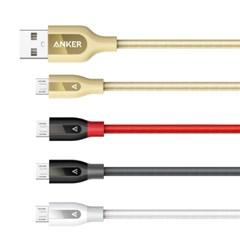 앤커 Anker PowerLine+ 케블라 Micro USB 케이블 0.9m (A8142H)