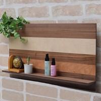 히토리 원목 벽선반 - 와이드