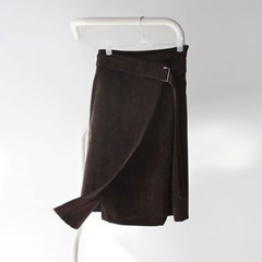 coduroy wrap skirt (2colors)