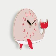 [BEZIT] 꿈의 고래 무소음 벽시계(핑크)