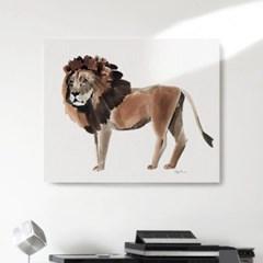 캔버스 패브릭 동물 그림 포스터 액자 사자 수채화