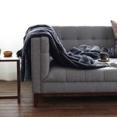 따뜻한 극세사 양면 블랭킷(다크그레이)