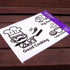 Life sticker-키친 시리즈 (블랙)