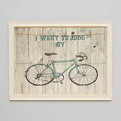 빈티지 자전거  폴라로이드 액자(44cm)1P