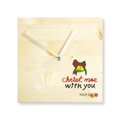 크리스마스 메세지 나무 벽시계
