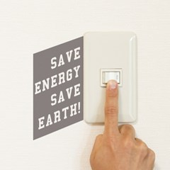 Save energy, save earth 스위치스티커