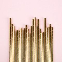 종이빨대 Metal Gold (20p)