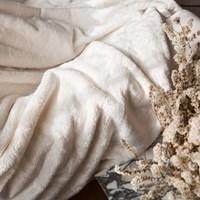오로라 극세사 담요(2 size)-아이보리.