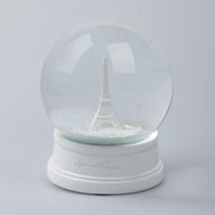 감성적인 화이트 에펠탑 스노우볼