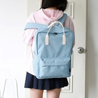 SQUARE Backpack - 민트블루