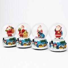 크리스마스 워터볼 스노우볼 8cm (산타블루)