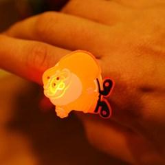 LED점등 눈사람반지