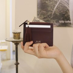 [★별자리 키링 증정] D.LAB Coin simple card wallet - Burgundy