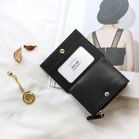 [★별자리 키링 증정] D.LAB Coin simple card wallet - Black