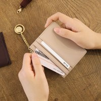 [★별자리 키링 증정] D.LAB Coin simple card wallet - beige