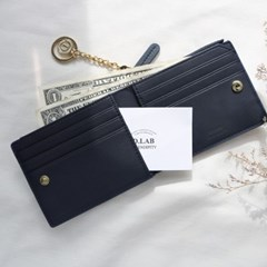 [★별자리 키링 증정] D.LAB Coin Half wallet - Navy