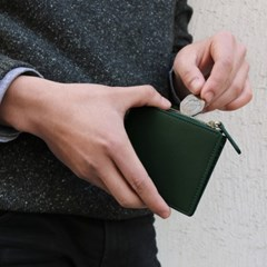[★별자리 키링 증정] D.LAB Coin Half wallet - Green