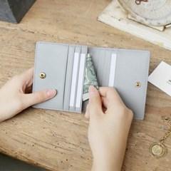 [★별자리 키링 증정] D.LAB Coin name card wallet - Gray