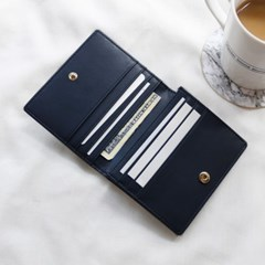 [★별자리 키링 증정] D.LAB Coin name card wallet - Navy