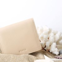Modern fringe a little wallet _Khaki (cow leather)