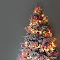 스윗 핑크장식 스노우 디자인 트리SET(150cm)
