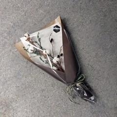 드라이플라워 - 따뜻한 목화 꽃다발