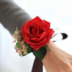 브라이덜 샤워 꽃팔찌-들꽃로즈