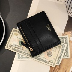 [★별자리 키링 증정] D.LAB Coin name card wallet - Black