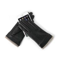 [베네]양가죽 니트 포인트 스마트터치 여성장갑