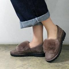 Rich fur top Stitch loafers_KM16w251