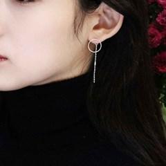 silver two type earring