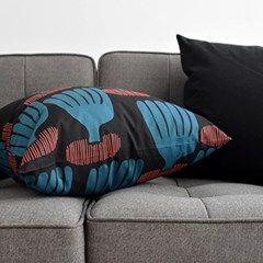 coral cushion by Jessica Nielsen