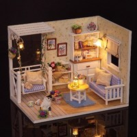 [adico] DIY 미니어처 하우스 - 그네가 있는 거실_(617332)