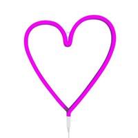 Heart neon light-pink