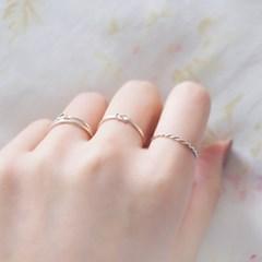 [하우즈쉬나우] The Course of Love, 3 Pcs Silver Ring SET