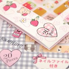 센스만점 딸기리락쿠마 네일전용 스티커_(478203)
