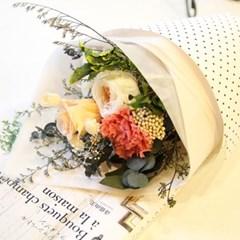 [더봄/프리저브드플라워]코럴핑크꽃다발