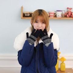 니트 보온 장갑 팡팡 (네이비)