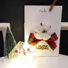크리스마스 드라이플라워 카드 NO.5 (고요한밤 거룩한밤)