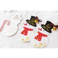 [금박] 메리크리스마스 눈사람 카드 (1개)