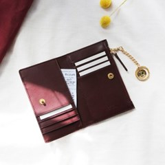 [★별자리 키링 증정] D.LAB Coin Card wallet - Burgundy